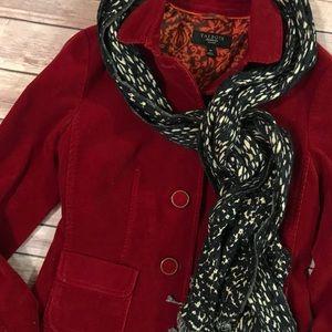 Red Corduroy Blazer Jacket Talbots size 4